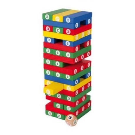 Dřevěná barevná hra Jenga
