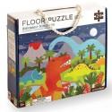 Podlahové puzzle království dinosaurů
