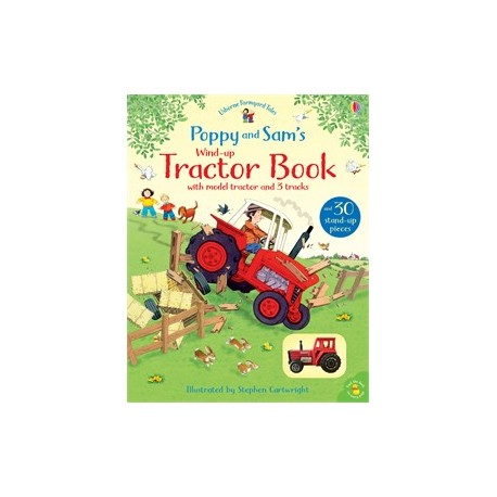 Tractor Book with model tractor and 3 tracks