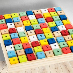 Dřevěné sudoku barevné kostičky