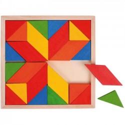 Dřevěná mozaika barevná