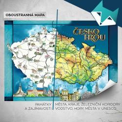 Nástěnná oboustranná MAPA Česko hrou