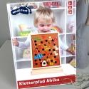 Dřevěná motorická hra s kuličkou Afrika