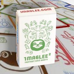 Fantastické karty IMAGLEE2 na učení hrou: Zelená krabička se smějícím se lenochodem