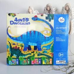 Svítící puzzle DINOSAUŘI 4v1